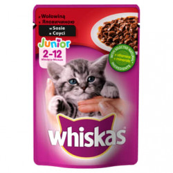 WHISKAS JUNIOR z Wołowiną w...